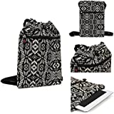 "Kroo Tablet Carrying Bag Sleeve for Most 11"" 12""Laptop fits Acer Iconia A3 / Tab A3 , Amazon Kindle Fire HD 8.9 4G LTE - Universal Design in Black/White"