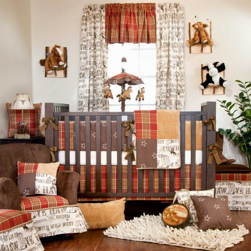 Cowboy Baby Bedding 1897 back