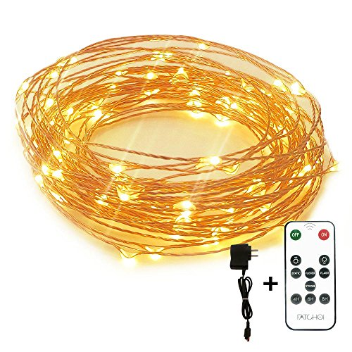 Led String Lights Dimmable Copper Wire Starry Light, 33ft, UL certified 5v Power Adapter For Christmas Wedding and Party suitable for indoors or outdoors Updated Remote Controller (Ac Masks compare prices)