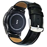 Galaxy Watch 46mm & Gear S3 Bands, 22mm Quick Release Genuine Leather Replacement Strap for Samsung Galaxy Watch 46mm / Gear S3 Classic/Frontier & Ticwatch Pro Smart Watch by OTOPO (Black) (Color: Leather - Black, Tamaño: 22mm (Ticwatch Pro/Galaxy Watch 46mm/Gear S3))
