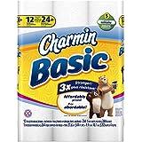 Charmin Basic Toilet Paper 12 Double Rolls = 24 Regular Rolls