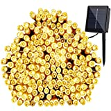 GDEALER Solar String Lights 72ft 200 LED 8 Modes Solar White Solar Powered Waterproof Starry Fairy Outdoor String Lights Christmas Decoration Lights for Garden Path, Party, Bedroom Decoration (1)