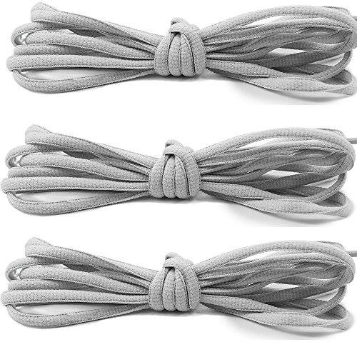 3 Pairs Shoelaces CaseHQ Flat Shoe Laces 52 inch Strings Flat Athletic Shoelaces Elastic Shoe Laces for Running Shoes Sports Shoes Sneakers Boots Skates Board Shoes Casual Shoes (Haan Hangers compare prices)