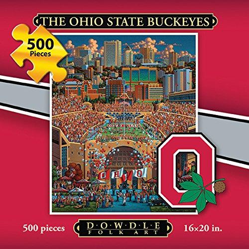 Jigsaw Puzzle - The Ohio State University Buckeyes-OSU-500 Pc By Dowdle Folk Art