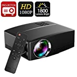 Projector DIWUER Video Projectors 1800 Luminous 180