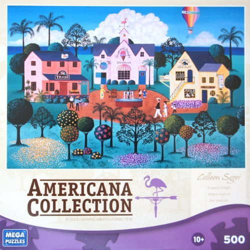 "AMERICANA COLLECTION Tropical Delight by Colleen Sgroi 500 Piece Puzzle (19"" X 13"" Size) - 1"