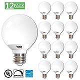 Sunco Lighting 12 Pack G25 LED Light Globe LED Light Bulb 6 Watt 40W EQ Dimmable, 2700K Kelvin Soft White, 450 Lumens, Omnidirectional Vanity Mirror Light, Energy Efficient - UL & Energy Star Listed (Color: 2700k - Soft White, Tamaño: 12 Pack)