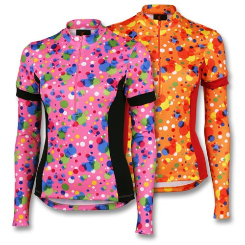 Buy Low Price Women's Bubbles Convertible Cycling Jersey – Discontinued Print! (B005QSX030)
