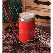 King International Red Stainless Steel 5 L Dustbin