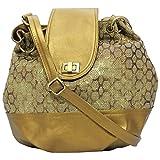 Stylocus Women's Sling Bag (Gold) (st_s_1406a)