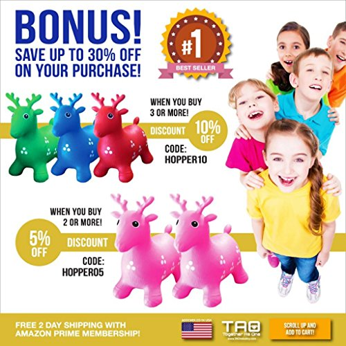 Inflatable-Hopper-Rated-1-and-Cutest-Bouncy-Seat-for-kids-on-Amazon-Ruffio-the-Animal-Deer-Comes-with-a-Free-Pump-and-Bonuses