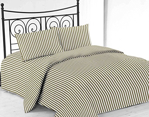 United Linens printed striped 4 piece sheet sets Brushed Microfiber 1800 Bedding - Wrinkle, Fade, Stain Resistant - Hypoallergenic - 4 Piece (King, sage) (Split King Sheets Fleece compare prices)
