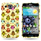 CoverON® Hard Slim Design Case for LG Optimus G Pro - with Cover Removal Pry Tool - Green Orange Fancy Owl