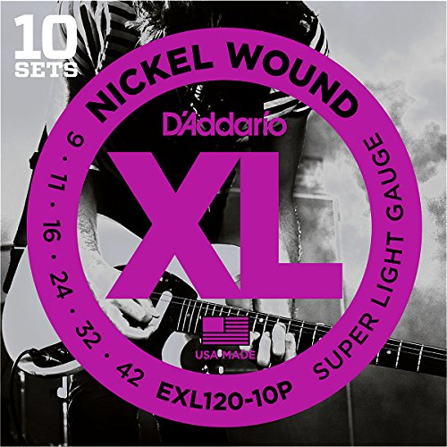 D'Addario EXL120 Nickel Super Light Electric Guitar Strings