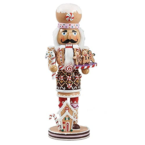 Kurt Adler 16-Inch Wooden and Polyresin Gingerbread Nutcracker