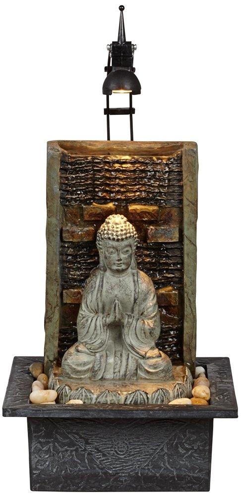 "Namaste Buddha 11 1/2"" High Indoor Table Fountain"