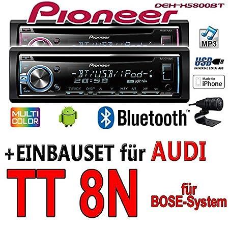Audi tT 8N bose pioneer dEH-x5800BT-cD/mP3/uSB kit