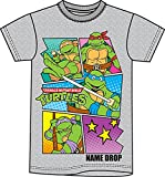 Nickelodeon Teenage Mutant Ninja Turtles Boys Cartoon T Shirt - Grey