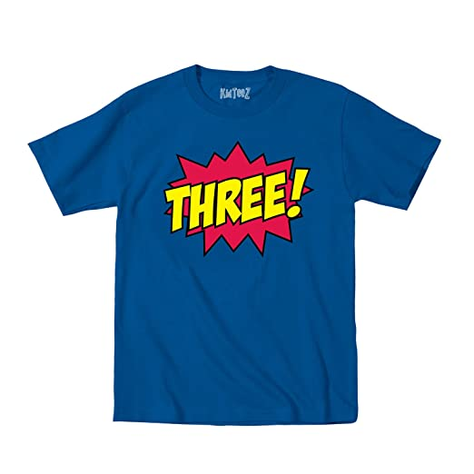 Toddler T Shirt Superhero Birthday Age Three Raspberry Color Funny Kid Tee s
