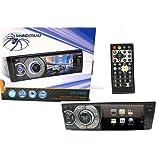 Radio Soundstream 1348-VR-345B de 1 solo Din, Bluetooth, reproductor DVD con pantalla 3.4