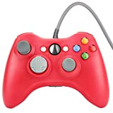 Wetoph Xbox 360 Wired Controller, CD29 PC Controller USB Gamepad Game Joystick Joypad Compatible for Microsoft 360 Console Windows PC Laptop Computer-Red (Color: red/CD29, Tamaño: CD29)