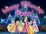 Princess Castle 1/4 Sheet Edible Photo Birthday Cake Topper. ~ Personalized!