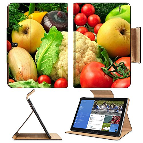 Vegetables Fruits Mixture Healthy Food Samsung Tab Pro 12.2 Flip Case Stand Smart Magnetic Cover Open Ports Customized Made To Order Support Ready Premium Deluxe Pu Leather Msd Professional Graphic Background Covers Designed Model Folio Sleeve Hd Template front-210615