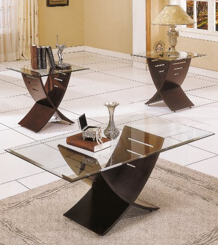 Espresso Coffee Table Set
