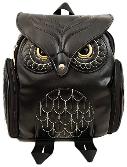 Gifted Tailor Women's Lovely Owl Leather Backpack