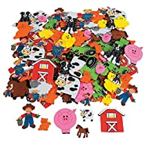 Fun Express Foam Self-Adhesive Farm Shapes - 500 Pieces
