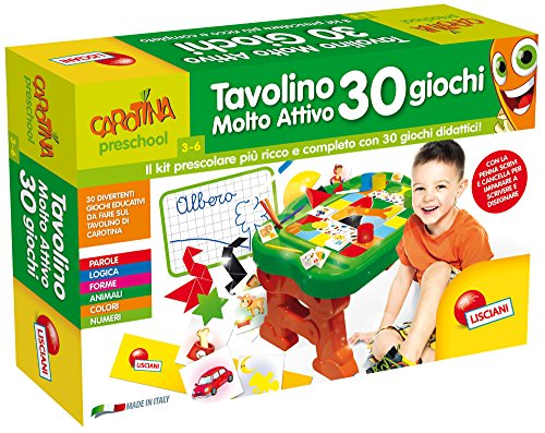 Lisciani Giochi 56590 - Carotina Tavolino Molto Attivo 30 Giochi