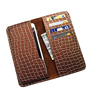 i-KitPit : PU Leather Wallet Flip Pouch Case For LG D325 (BROWN)