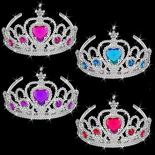 German-Trendseller-6-x-Schmuck-Krone-Tiara-NEU--Kristalle--Crown--Harband--Schmuck--Prinzessin-Krone--6-Stck