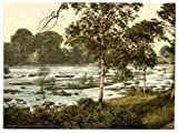 Victorian View of the Rapids on the Shannon, Shannon, County Limerick, Ireland, Large A3 size 41 by 28 cm Canvas Textured Fine Art Paper Photo Print