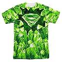 Superman DC Comics Superhero Kryptonite S Shield Logo Adult Front Print T-Shirt