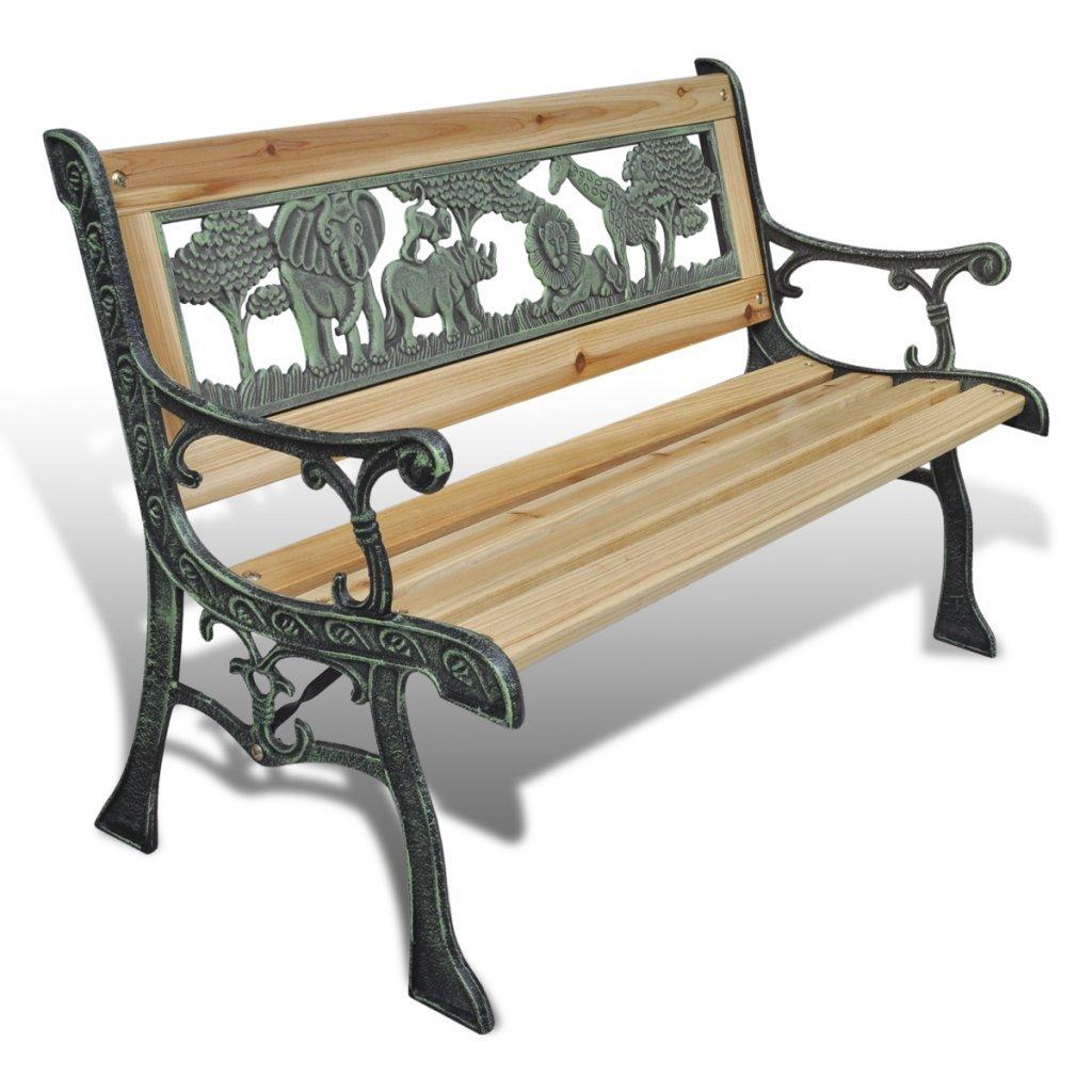 vidaxl gartenbank sitzbank gartenm bel holzbank parkbank f r kinder g nstig online kaufen. Black Bedroom Furniture Sets. Home Design Ideas