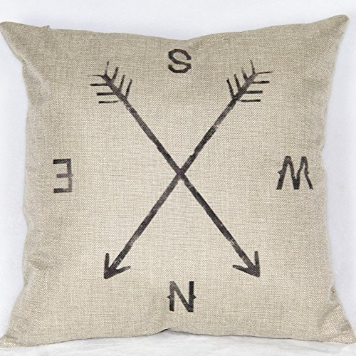 retro-compass-cotton-linen-throw-pillow-cases-decorative-cushion-covers-18-x-18