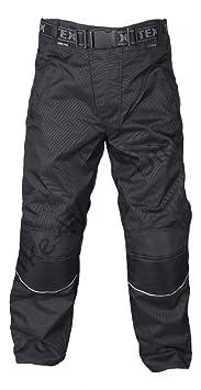 Noir moto imperméable Pantalons Plus