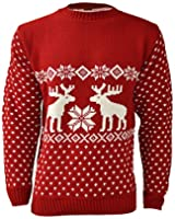 MENS UNISEX CHRISTMAS REINDEER NOVELTY KNITTED JUMPERS