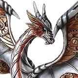 Steampunk Inspired Mechanical Gearwork Dragon Sculpture 12 Inch