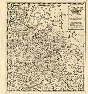 Amazon.com - Antique Map-SILESIA-GERMANY-MORAVIA-EUROPE-Weege-1753