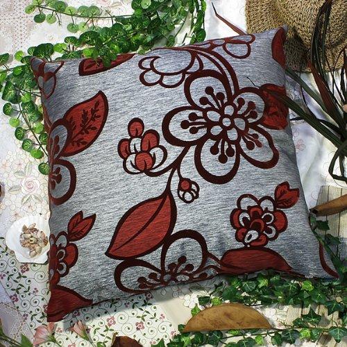Bettino - [Darkred Plum Blossom] Decorative Pillow Cushion / Floor Cushion (23.6 by 23.6 inches)