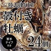 殻付き牡蠣 生牡蠣 生食用カキ   南三陸志津川産   大サイズ 24個 築地直送 かき