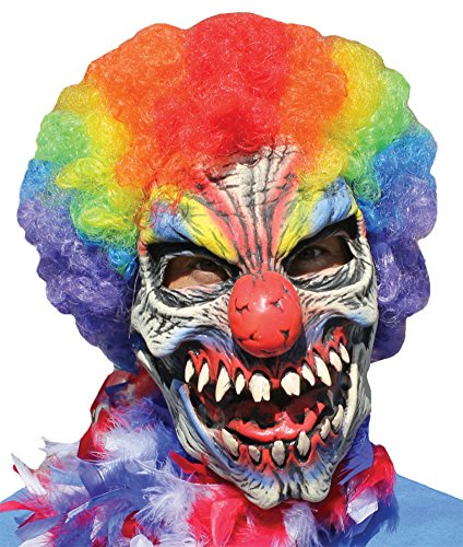 Funny Bones Circus Clown Horror Latex Adult Halloween Costume Mask