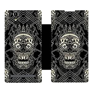Skintice Designer Flip Cover with hi-res printed Vinyl sticker wrap-around for Sony Xperia T2/T2 Ultra