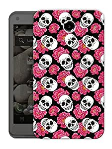 "Skulls And Roses - Pink Printed Designer Mobile Back Cover For ""Lenovo S880"" By Humor Gang (3D, Matte Finish, Premium Quality, Protective Snap On Slim Hard Phone Case, Multi Color)"