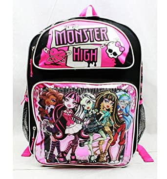 "Monster High Fabulous 16"" Large Backpack Book Bag School"