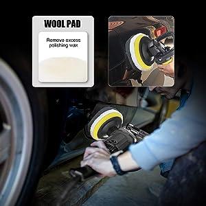 MATCC Polishing Buffing Pads Kits 21Pcs 3 Inch Buffing Polishing Wheel for Drill Polishers Buffer kit Scouring Pads Car Foam Drill for Sanding Glazing Polishing Waxing with Backing Pad