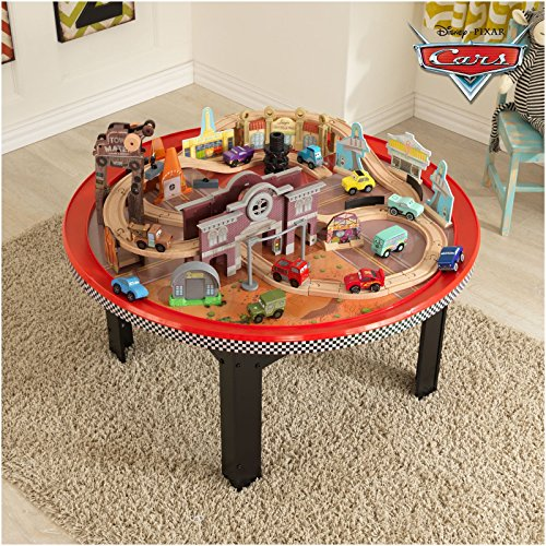 kidkraft disney cars cadillac range train set and table toys games toys play vehicles toy trains. Black Bedroom Furniture Sets. Home Design Ideas