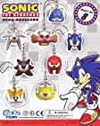 SONIC the Hedgehog Head Figurine Danglers Set of 8